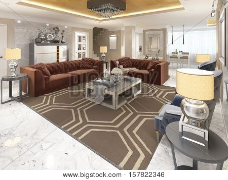 Luxury Designer Apartment-studio In Art Deco Style.