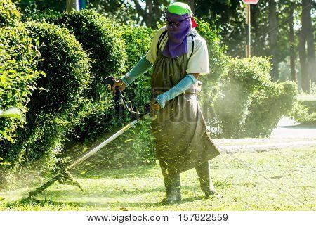Men face off cut the grass cut the grass