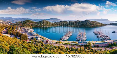 View From The Bird's Eye Of The Kas City, District Of Antalya Province Of Turkey, Asia. Colorful Spr