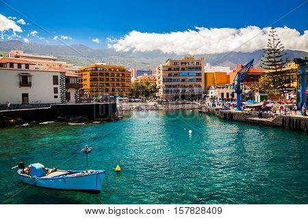 Old Fishing Port In Puerto De La Cruz