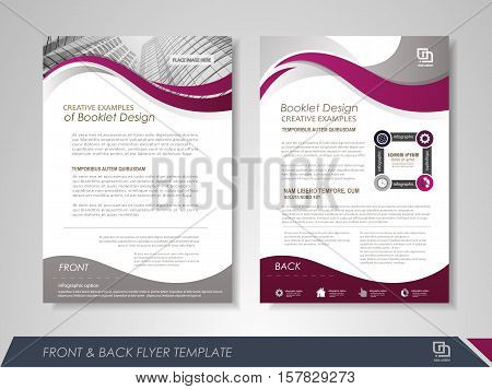 Front And Back Page Annual Report Brochure Flyer Design Vector Template Leaflet Cover Presentation Abstract