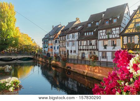 cityscape of Colmar, beautiful town of Alsace, France