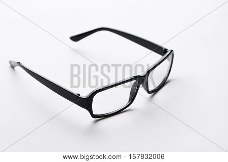 Glasses in empty white background