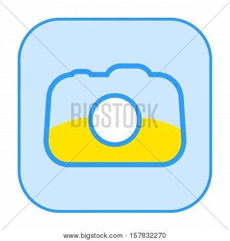 Photo camera icon isolated on white background