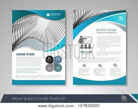 Modern Blue Brochure Vector Photo Free Trial Bigstock