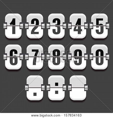 Mechanical Dial with a set of numbers in a vector