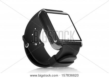smart watch with blank screen. isolated on white background