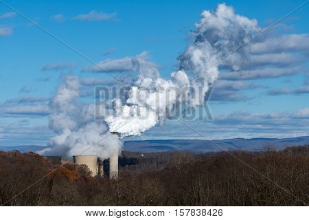 Coal powered power station in West Virginia is on the list as one of the dirtiest power plants