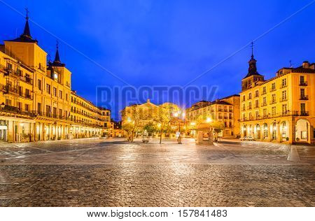 Segovia Spain. Plaza Mayor in Segovia a city in the autonomous region of Castilla y Leon Spain.