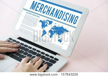Global Business Corporate Merchandise Concept