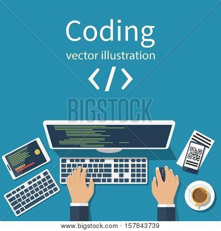 Programmer, Coder Vector