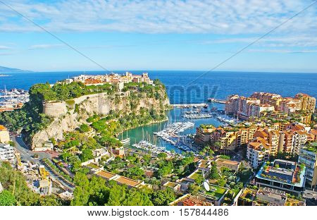 Monaco is the pearl of Cote d'Azur it boasts scenic coastline preserved old town on the Rock two ports famous Casino in Monte Carlo and other landmarks.