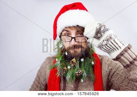 Santa's Decorated Beard