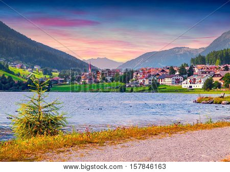 Colorful Summer Sunrise On  San Valentino Village