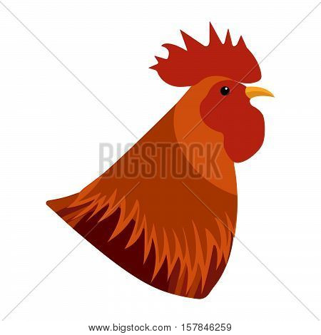 Rooster, Symbol Of 2017 On The Chinese Calendar Vector Element For New Year's Design Greeting Cards,