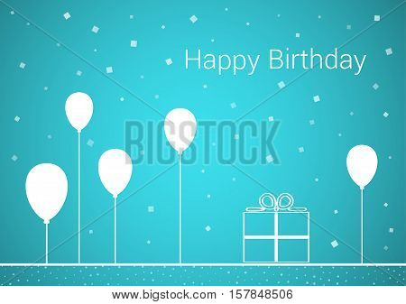 Celebration Card With Wish Of Happy Birthday