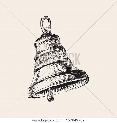 Hand Drawn Christmas Bell Hand Drawn Christmas Bell