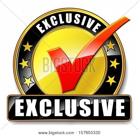 Illustration of exclusive icon on white background