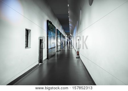 Milan, Italy - June 9, 2016: The Corridor Of Science And Technology Museum Leonardo Da Vinci