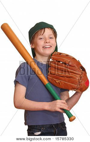 Happy Baseball Player