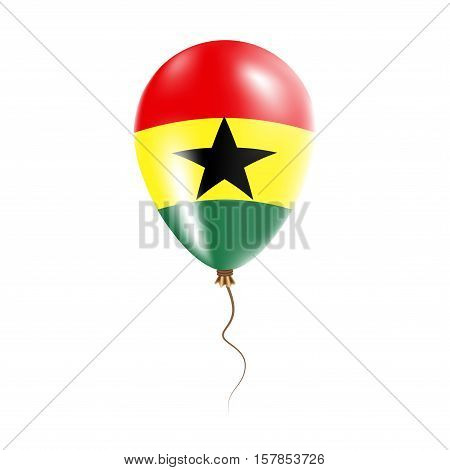 Ghana Balloon With Flag. Bright Air Ballon In The Country National Colors. Country Flag Rubber Ballo