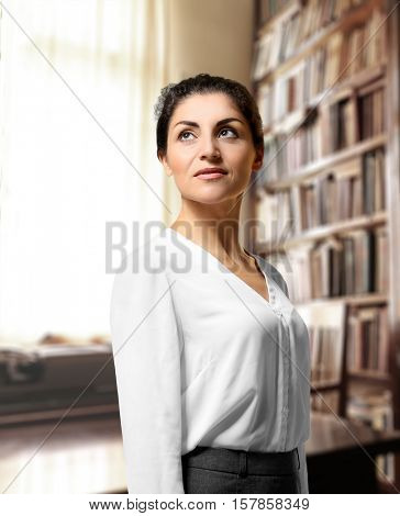 Mature woman at office. Law and justice concept.