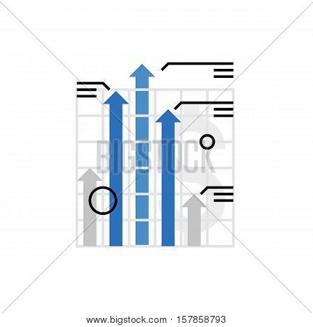 Financial Growth Monoflat Icon.