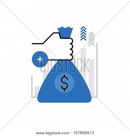 Investment Monoflat Icon.
