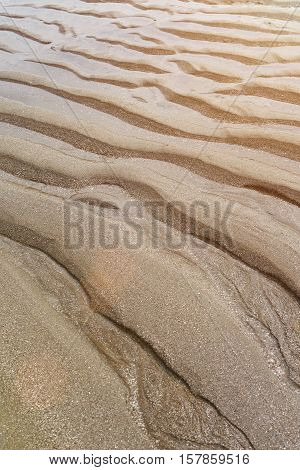 Abstact Sand Waves On Pacific Coast