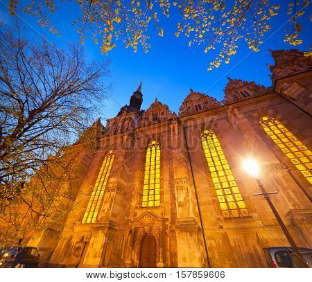 Colorful Evening View Of Holy Trinity Church