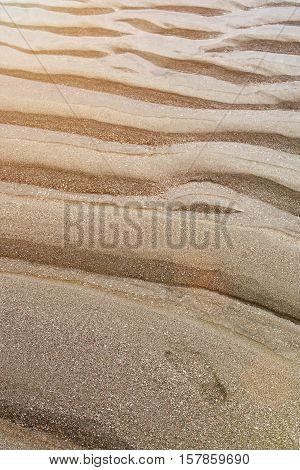 Foot Print On Sand