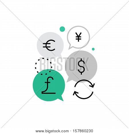 Currency Exchange Monoflat Icon.