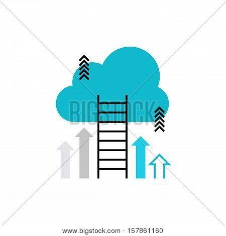Career Ladder Monoflat Icon.