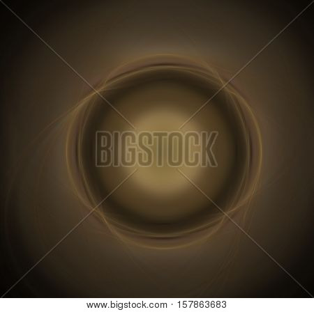 abstract illustration ball color of coffee with milk with four bulges in the loop on a light brown background with dark corners