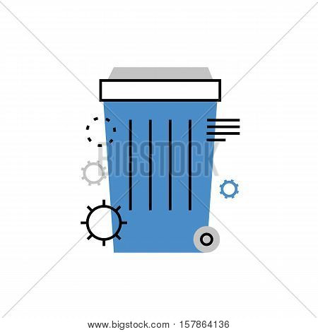 Dustbin Monoflat Icon.
