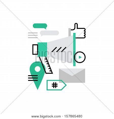 Social Marketing Monoflat Icon.