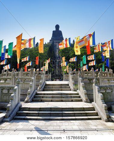Bronze Statue Of A Buddha Amoghasiddhi In Hong Kong
