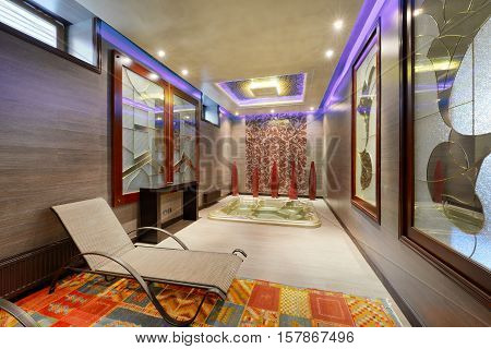 Spa center in a luxury country house the interior salon Spa