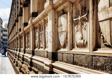 Shields And Crosses On Sepulchral Niches In Santa Maria Novella