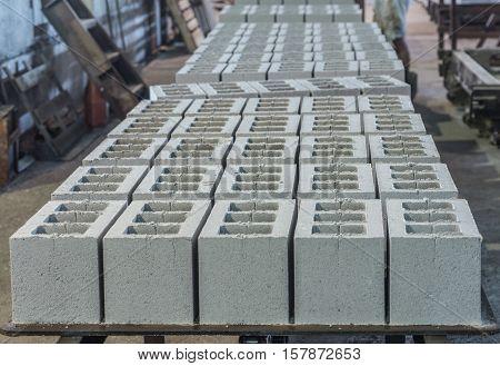 Gray concrete construction block industrial Photo