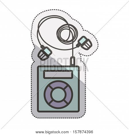Mp3 icon. Music sound technology media and device theme. Isolated design. Vector illustration
