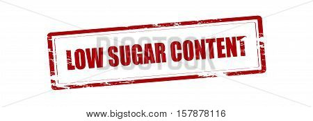 Rubber stamp with text low sugar content inside vector illustration