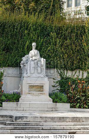 Monument to Empress Elisabeth in Vienna's Volksgarten Austria