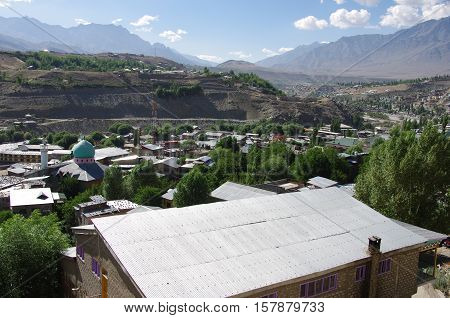 City of Kargil in Ladakh, in India