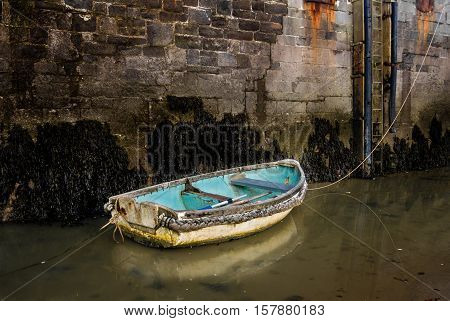 The Old Boat, The harbour, Tenby, Pembrokeshire, Wales.