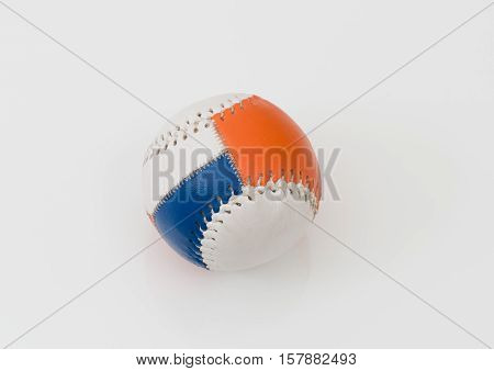 Baseball from hard leather on white background