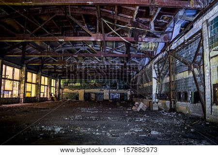 Abandoned ruins of Voronezh factory of radio components and capacitors