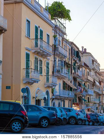 Typical Buildings In Old City, Corfu