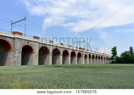 railway bridge Kaiser Ferdinands-Nordbahn near Hrance in Czech republic