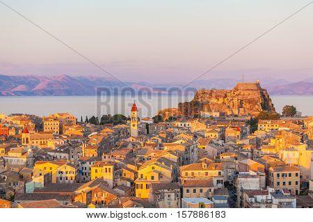 Aerial View On Corfu City